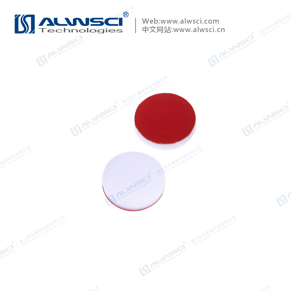 8-425 Red PTFE/ White Silicone Teflon Septa 1.5mm thickness
