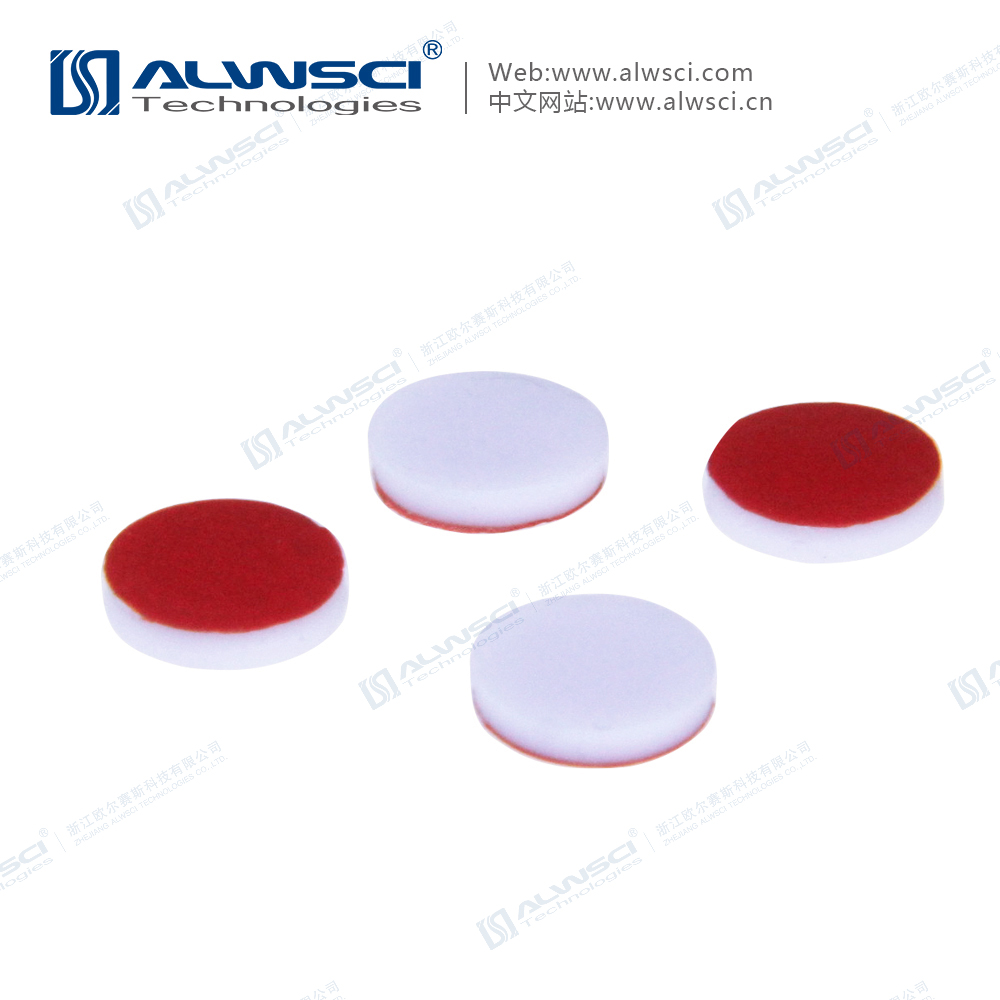 8-425 Red PTFE/ White Silicone Teflon Septa 1.3mm thickness